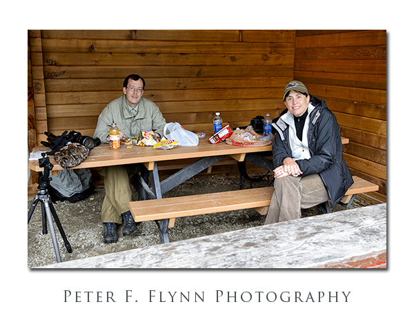 Brian and the HP in the Picnic Shelter